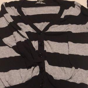 Woman's striped 3/4 sweater